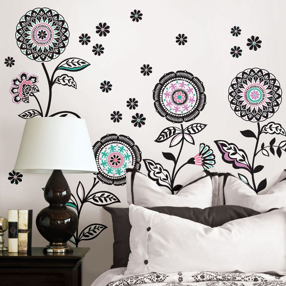 Floral Medley Large Wall Sticker Set